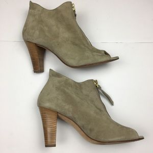 Paul Green Shoes - 🎉HP🎉 Paul Green Topaz Suede Peep Toe Zip Bootie